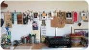 des photos, des dessins... mur d'inspiration